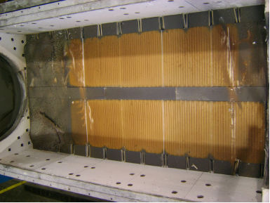 Heating Element Compartment Showing Product Contamination at Both Ends of Furnace
